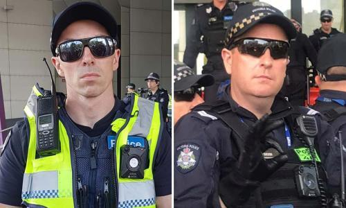Victoria police 'extremely disappointed' with two officers after climate protests
