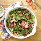 <p>Homemade poppy seed dressing pairs beautifully with tender spinach, crunchy almonds and juicy berries for a fantastically refreshing and easy spring salad. To make ahead, whisk dressing, combine salad ingredients and store separately. Toss the salad with the dressing just before serving. To make it a complete meal, top with grilled chicken or shrimp.</p>