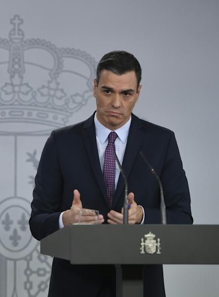 Spain's Prime Minister Pedro Sanchez has promised to open talks with Catalonia's separatist regional government (AFP Photo/PIERRE-PHILIPPE MARCOU)