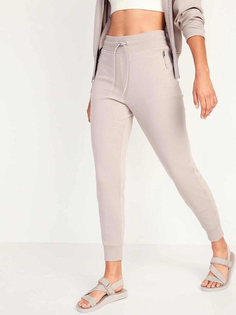 <p>If you're already dreaming of sweater weather, nab a pair of <span>Old Navy High-Waisted Dynamic Fleece Jogger Sweatpants</span> ($42, originally $45) for colder temps. And, if that's not enough to sell you, those zippered pockets surely will.</p>