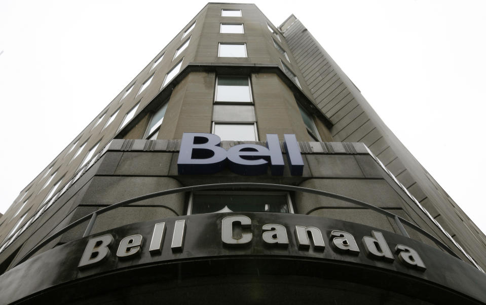 A Bell Canada office is pictured in downtown Ottawa November 26, 2008.  BCE Inc, the parent of Bell Canada, said on Wednesday it was unlikely its C$34.8 billion ($28.2 billion) leveraged buyout would close next month after its accountants ruled that the company that emerges from the deal would not meet a solvency test because of its huge debt load.  REUTERS/Chris Wattie (CANADA)
