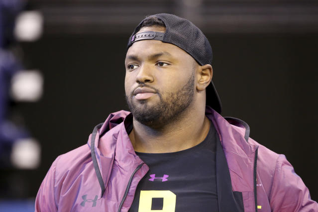 Michigan defensive lineman Maurice Hurst was cleared to participate at Michigan's pro day on Friday. (AP)