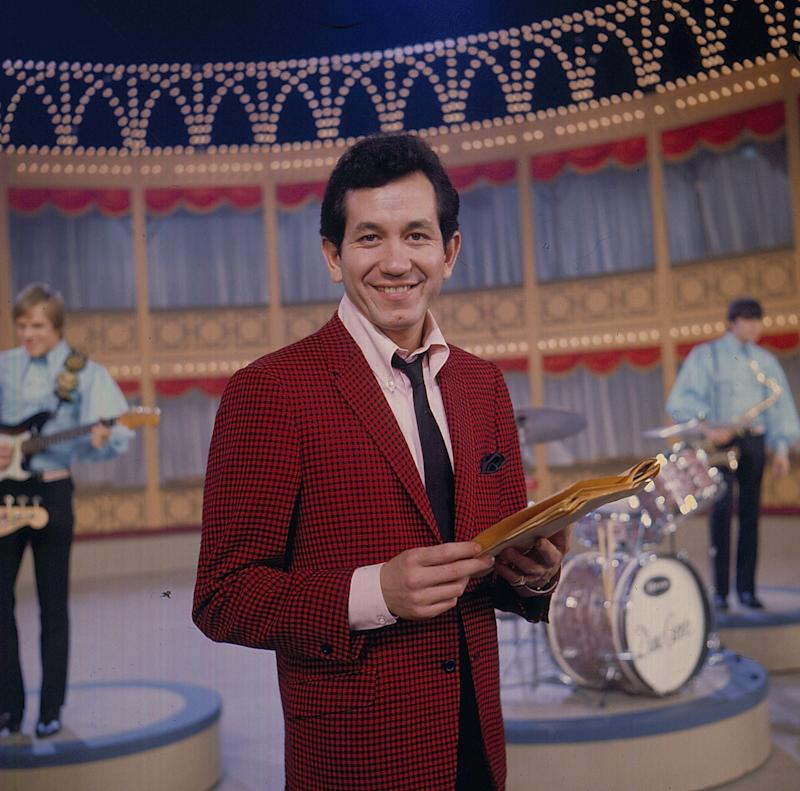 Trini Lopez on the set of the 'Hippodrome Show' on television in 1968 - Popperfoto via Getty