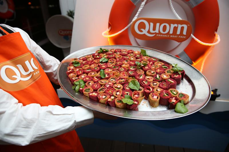 Quorn canap�s during the launch of Quorn new Vegan Fishless Fillets range, which it sets its sights on the high seas with a healthy and sustainable take on British classics