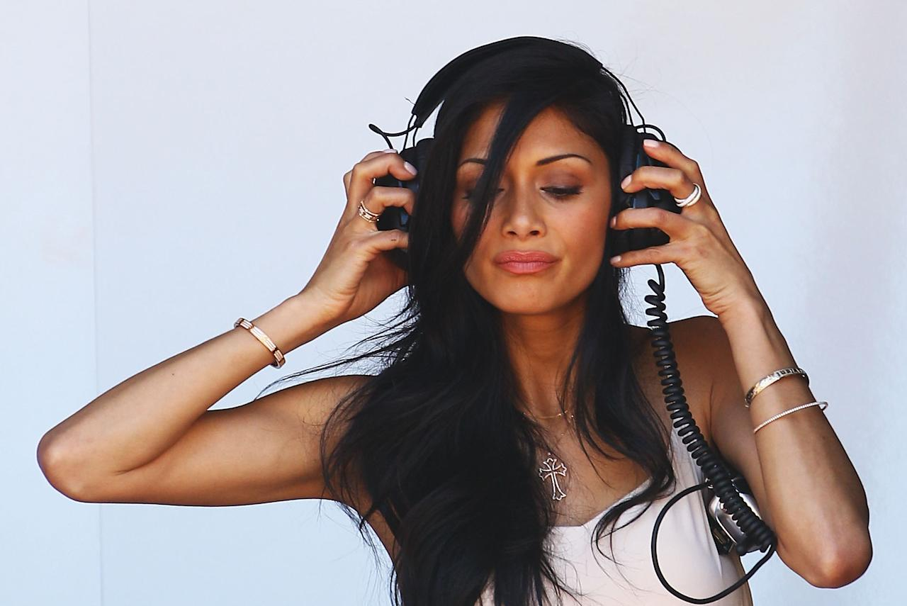 MONTE CARLO, MONACO - MAY 28:  Nicole Scherzinger of the Pussycat Dolls, girlfriend of Lewis Hamilton of Great Britain and McLaren Mercedes, is seen during qualifying for the Monaco Formula One Grand Prix at the Monte Carlo Circuit on May 28, 2011 in Monte Carlo, Monaco.  (Photo by Vladimir Rys/Getty Images)