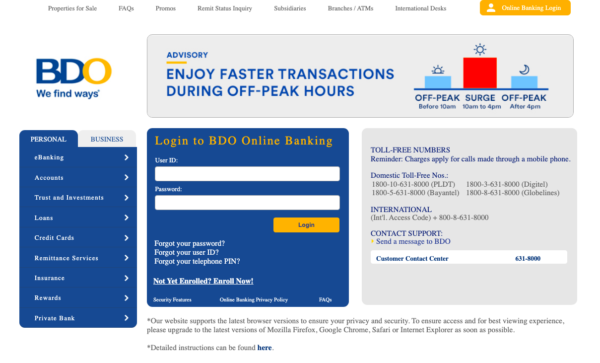 bdo online - what is bdo online banking