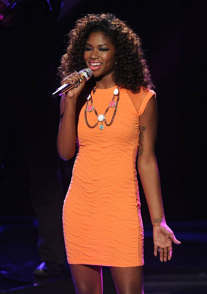 "Amber Holcomb performs ""MacArthur Park"" on the Wednesday, April 24 episode of ""American Idol."""