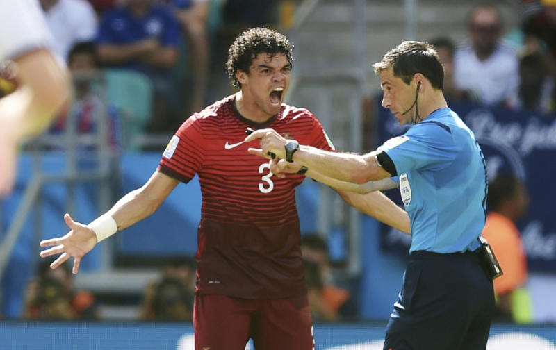 Pepe, Pereira get 1-match bans for red cards