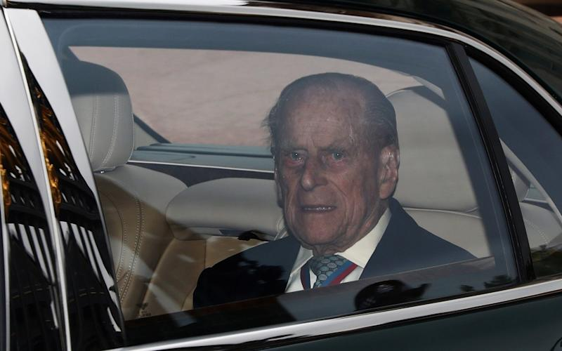 Britain's Prince Philip leaves Buckingham Palace - Credit:  REUTERS