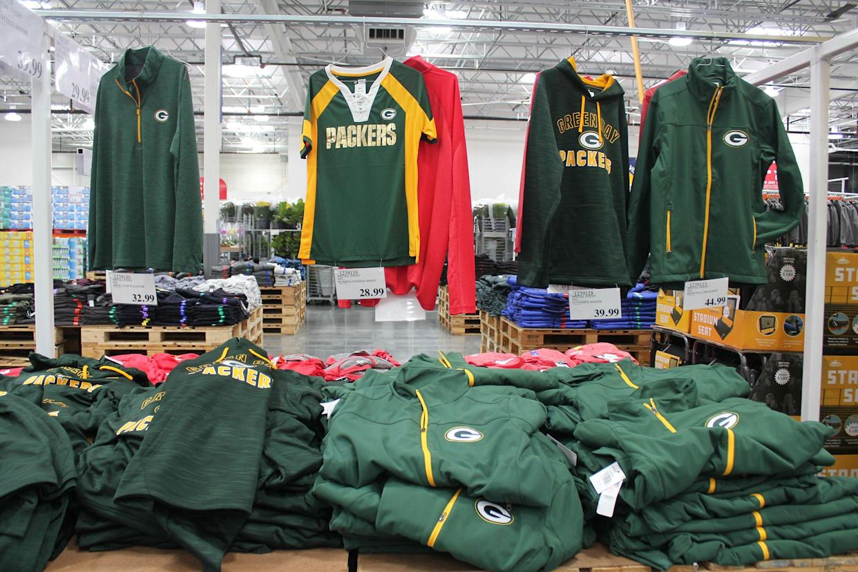 Green Bay Packers NFL items at Costco