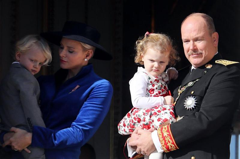 The royals appeared on the balcony for the National Day of Monaco. Photo: Getty Images