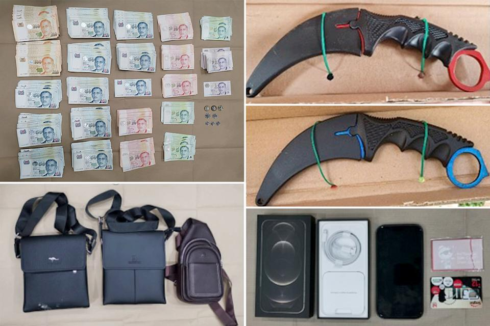 Exhibits seized by the police. (Photo: SPF)