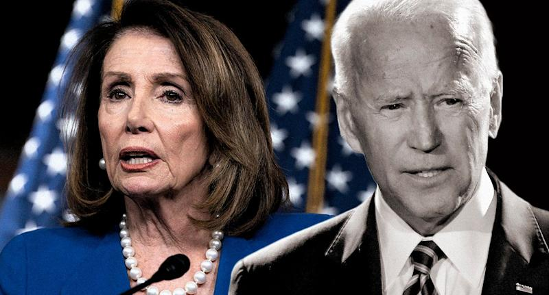 House Speaker Nancy Pelosi and former Vice President Joe Biden. (Photos: J. Scott Applewhite/AP, AP)