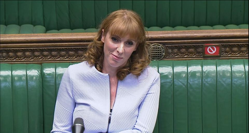 Deputy Labour leader Angela Rayner speaks during Prime Minister's Questions in the House of Commons, London.