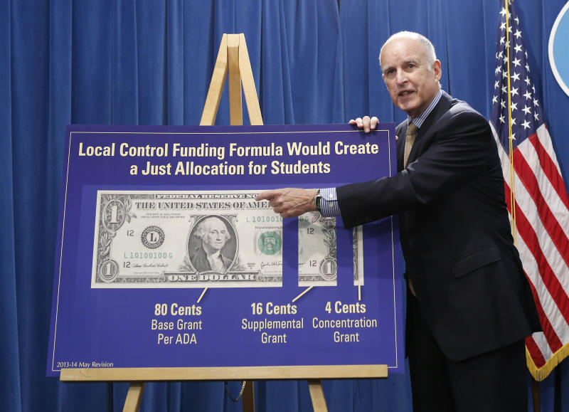 Brown takes restrained view of Calif. spending