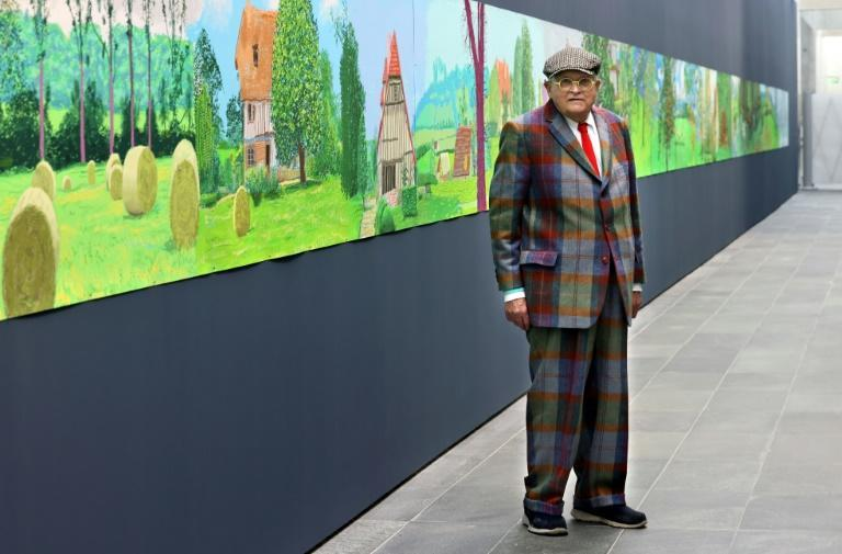 David Hockney's 'A Year in Normandy' opens at the Musee de l'Orangerie on October 13. (AFP/Thomas COEX)