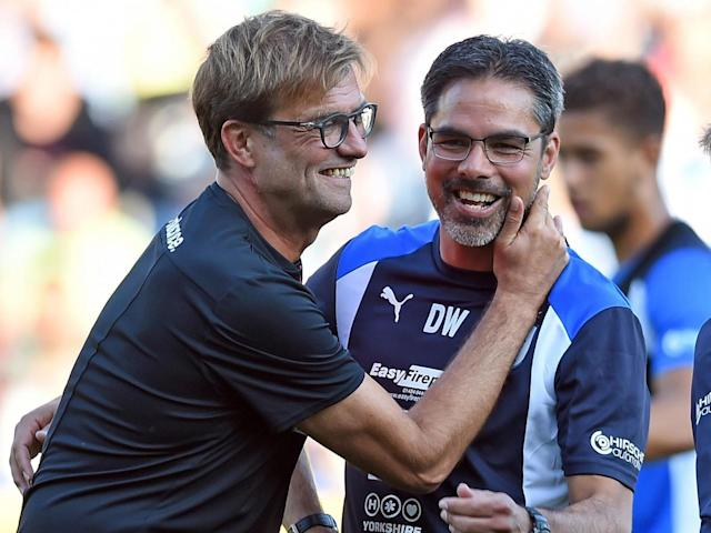 Klopp thinks that Wagner is one of the 'hottest trainers in England' (Getty)