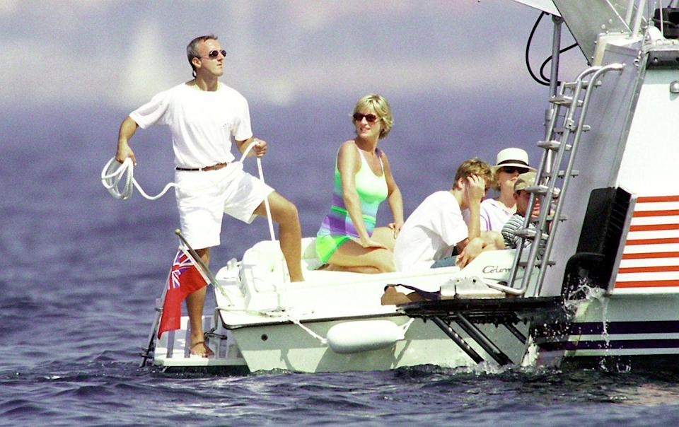 <p>After her divorce from Prince Charles, Diana refused to disappear. She enjoyed romances with various charming, wealthy men — including Dodi Al Fayed (not pictured). She and Prince William vacationed with him in Saint-Tropez in the summer of 1997, shortly before Diana and Dodi were killed in a car crash in Paris on August 31.</p>