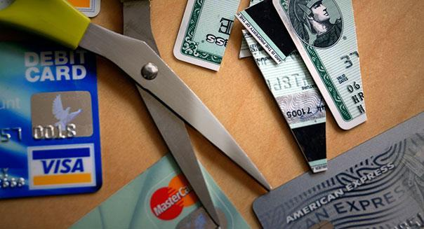 Cutting up your credit cards