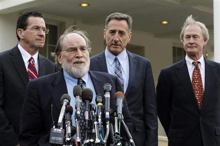 Newly elected Hawaii Governor Neil Abercrombie speaks to the media at the White House in Washington