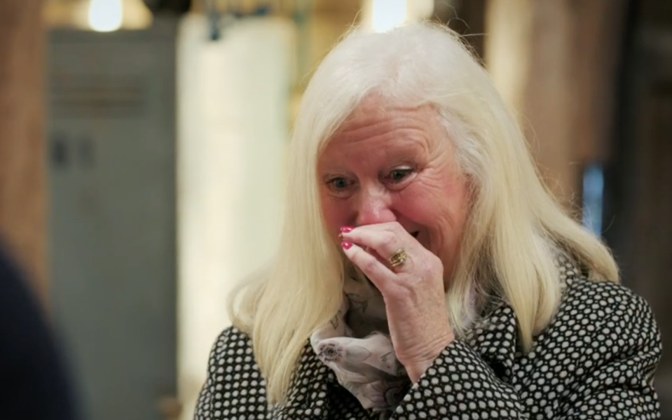 Christine was stunned by the expert's restoration (BBC)