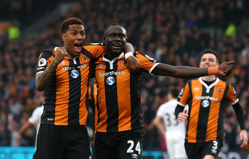 Abel Hernández, left, and Oumar Niasse have fired Stoke's revival since Marco Silva arrived.