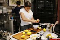 """<p>According to <a href=""""https://www.aol.com/food/tom-colicchio-padma-lakshmi-and-gail-simmons-spill-top-chef-secr/#slide=3435760#fullscreen"""" data-ylk=""""slk:AOL"""" class=""""link rapid-noclick-resp""""><em>AOL</em></a>, Gail Simmons got sick from a contestant's food, but she added that it's only happened once. </p>"""