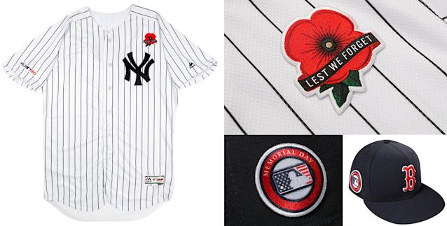 MLB's new uniforms for Memorial Day in 2019. (MLB)