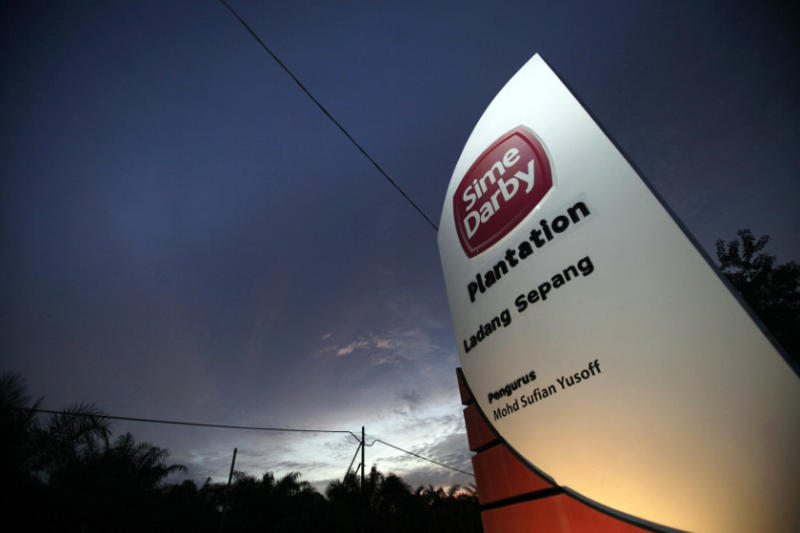 A Sime Darby logo is on display at the entrance to its plantation in Sepang outside Kuala Lumpur in this August 5, 2010 file photo. — Reuters pic