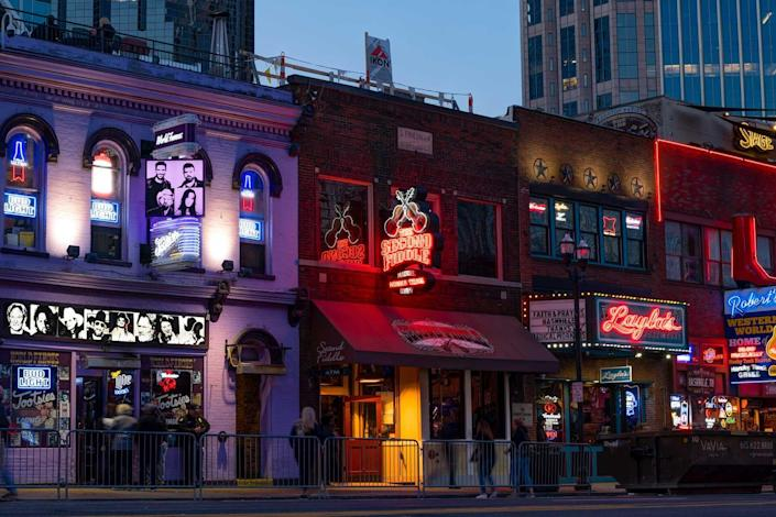 Neon signs on Broadway, Nashville, Tennessee