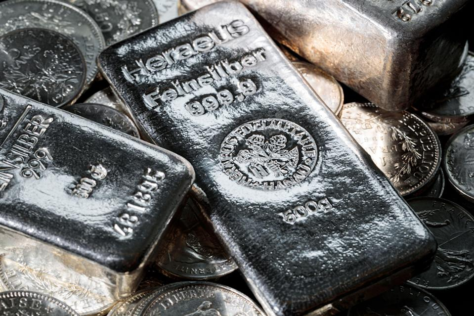 <p>Silver value touched five-month high on 1 February </p> (AFP via getty)