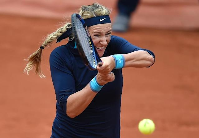 Belarus' Victoria Azarenka hasn't played since the 2016 French Open, taking time out to give birth to her first child Leo (AFP Photo/Eric FEFERBERG)