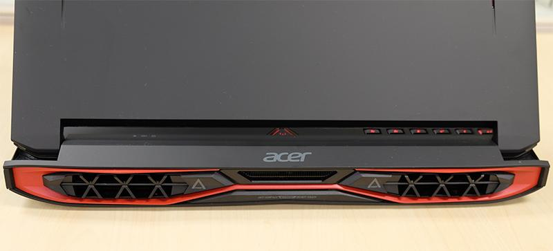 Acer Predator 15 exhaust vents