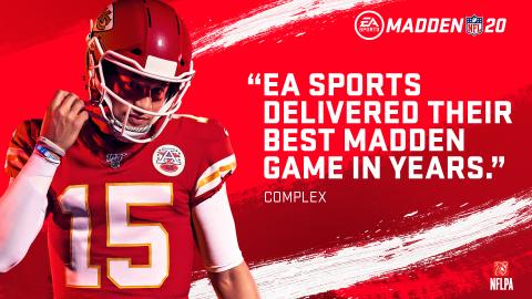 EA SPORTS Madden NFL 20 Scores Early With Biggest Ever Digital Launch in Its First Week on Sale