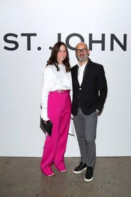 St. John's Creative Director, Zoe Turner and CEO, Eran Cohen at the St. John Event on November 6th in New York City