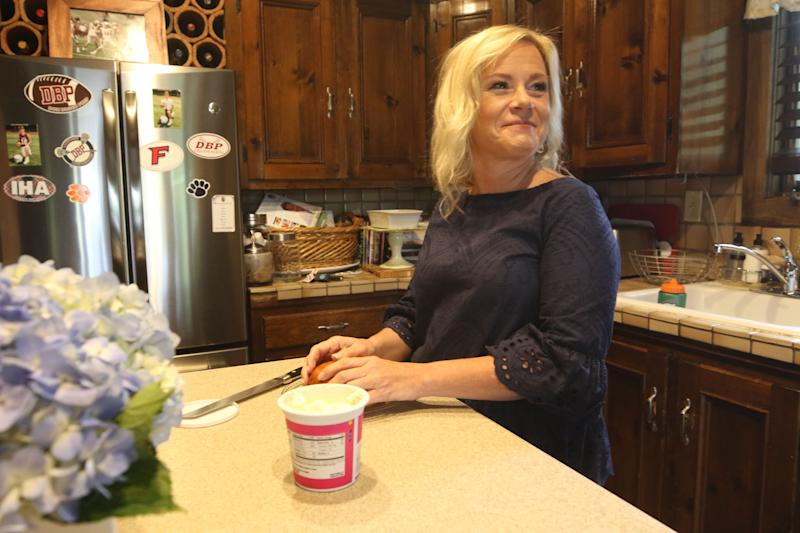 Bridget Anne Kelly at her home two days before she is sentenced for her role in Bridgegate. Here she prepares a bagel for her son in the morning.