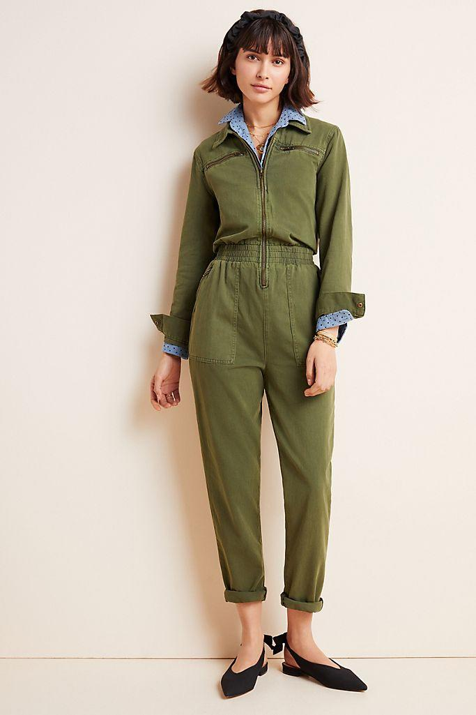 Victor Twill Utility Jumpsuit (Anthropologie)