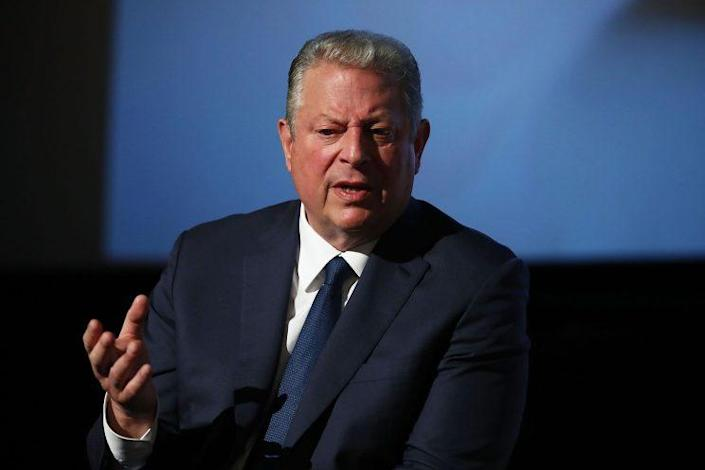 """Al Gore speaks during a Q&A following a special screening of """"An Inconvenient Sequel: Truth to Power"""" at Event Cinemas Bondi Junction on July 10, 2017, in Sydney, Australia. (Photo: Brendon Thorne/Getty Images for Paramount Pictures)"""