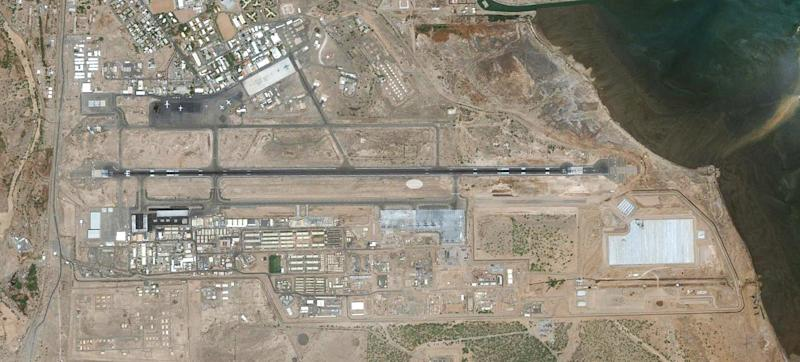 Ever-growing Camp Lemonnier takes up the south side of Djibouti-Ambouli International Airport.
