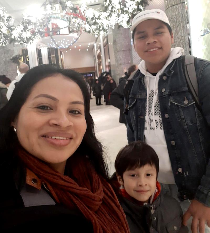 Rosayra Pablo Cruz and her sons have been granted asylum in the U.S. (Jordy Pablo)