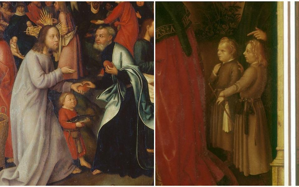 Franny Moyle noticed ta telling resemblance between two figures in the State Gallery in Augsburg - Arthothek