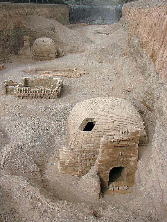 1,700-Year-Old Silk Road Cemetery Contains Mythical Carvings