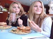 "<p>Back in 2004, McDonald's hired the Olsen twins to promote its Happy Meals in France. A <em><a href=""http://money.cnn.com/2004/09/17/news/international/olsens_mcd/"" rel=""nofollow noopener"" target=""_blank"" data-ylk=""slk:CNN Money"" class=""link rapid-noclick-resp"">CNN Money</a> </em>article from the time reported that McDonald's French site showed the then-teens and the various branded items, including a pre-Elizabeth-and-James ""sac en jean Mary-Kate and Ashley.""</p>"