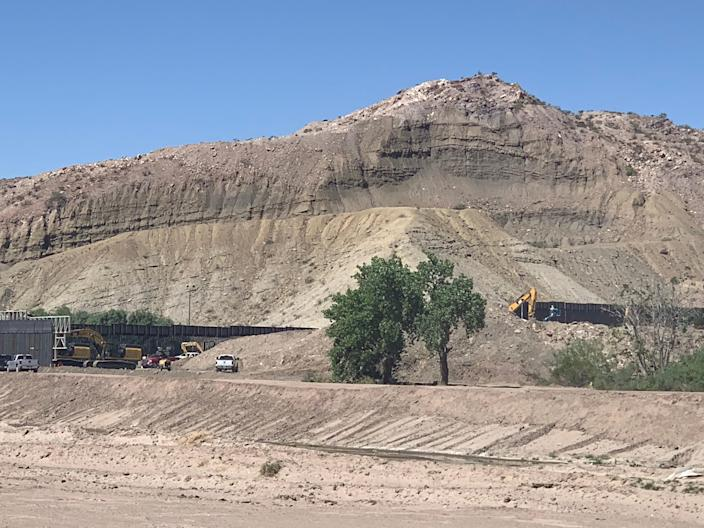 A private group, We Build the Wall, built a bollard-type wall on the U.S.-Mexico border on private property near Monument One near the Texas-New Mexico area.