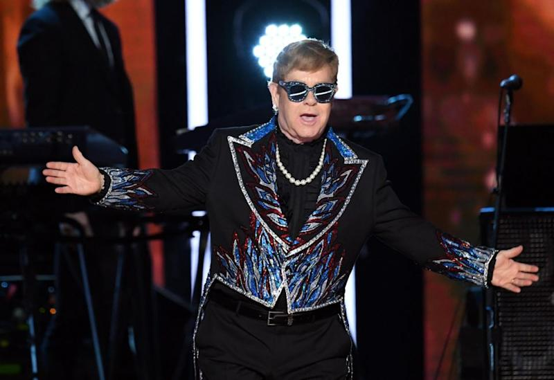 Family friend Elton John is the first one. Photo: Getty Imgaes