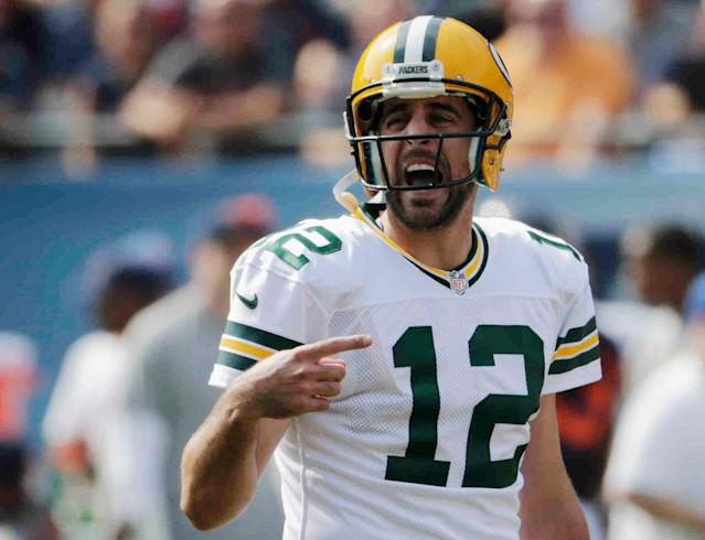 "Aaron Rodgers may have to bring his game face to ""Game of Thrones."" (AP Photo/Charles Rex Arbogast)"