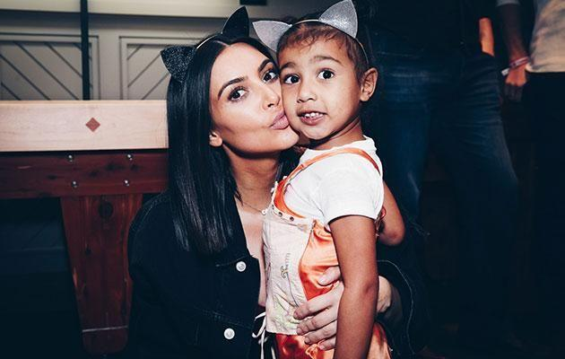 Kim regularly posts photos to her Instagram showing her hanging out with her daughter North. Source: Getty
