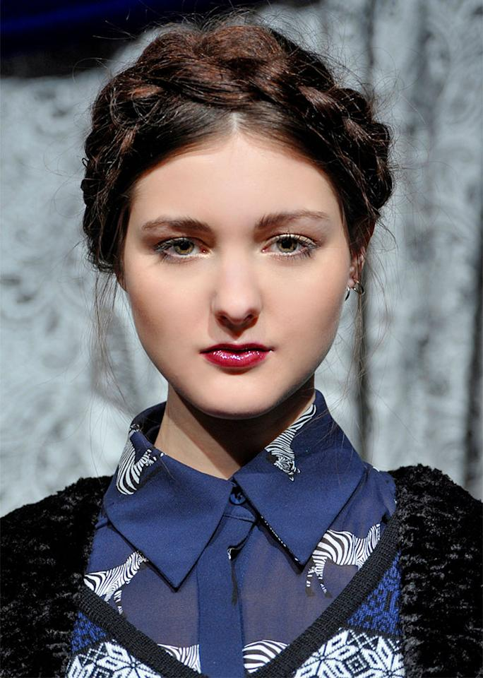 The classic milkmaid braid is always an option for long hair.