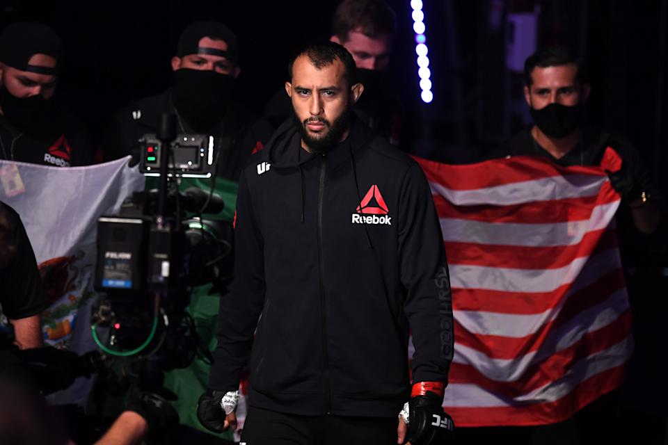 ABU DHABI, UNITED ARAB EMIRATES - SEPTEMBER 27:  Dominick Reyes prepares to face Jan Blachowicz of Poland in their light heavyweight championship bout during UFC 253 inside Flash Forum on UFC Fight Island on September 27, 2020 in Abu Dhabi, United Arab Emirates. (Photo by Josh Hedges/Zuffa LLC)
