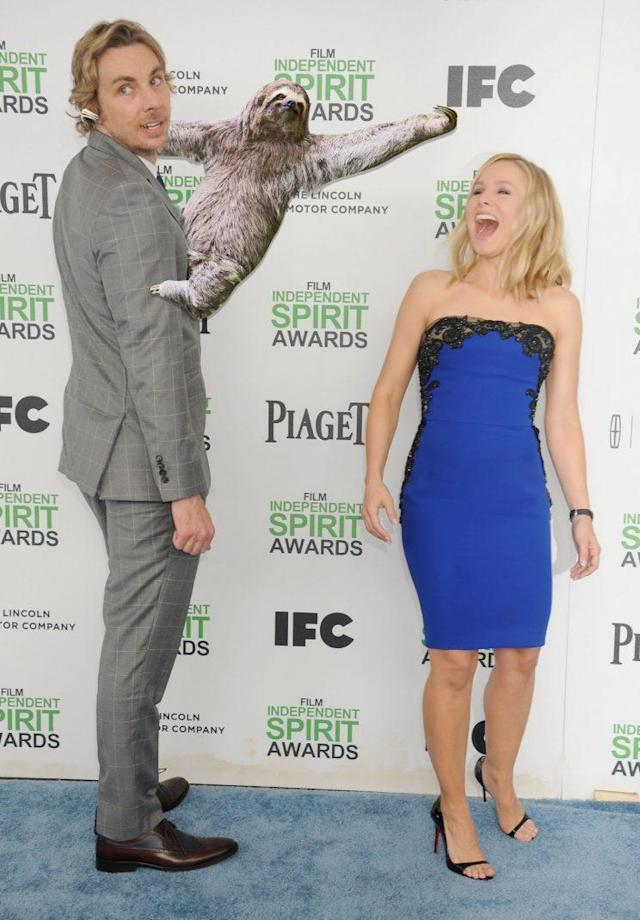Kristen Bell and Dax Shepard at the 2014 Independent Spirit Awards. (Photo: Getty)
